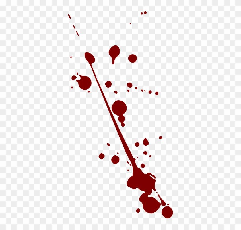 Splatter Clipart Paint Drops - Blood Splatter Clipart #216386