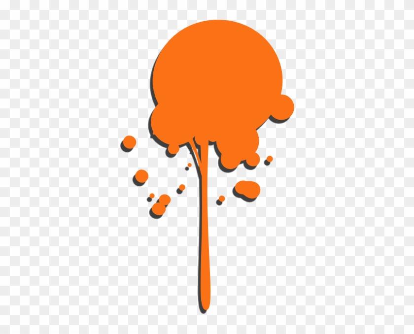 Orange Paint Drip Clip Art - Dripping Paint Splatter Png #216414