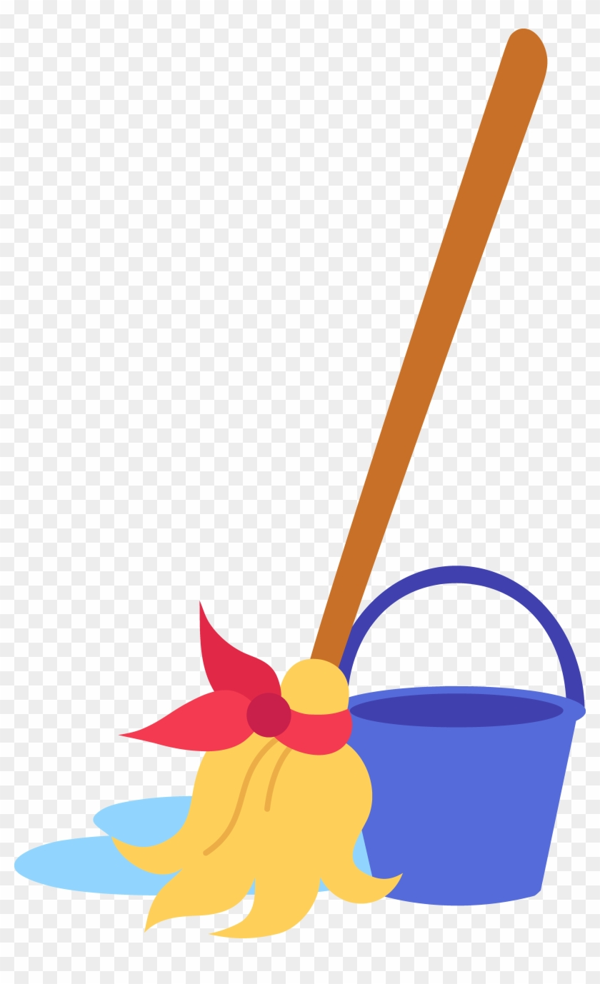Crafty Design Bucket Clipart Mop And Clip Art Free - Cartoon Mop And Bucket #216529