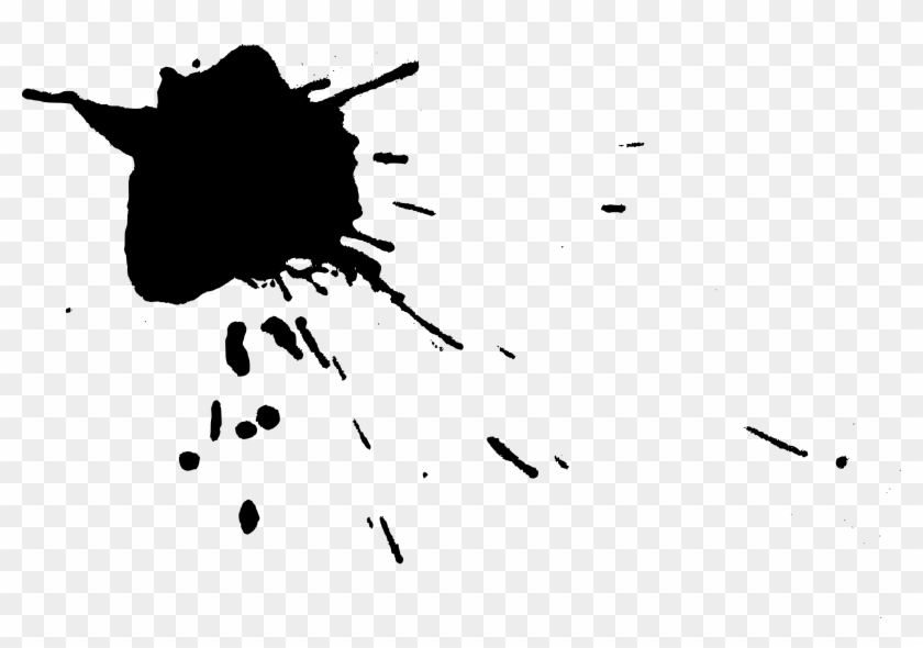 Paint Splat Clipart - Ink Splatter Transparent Background #216561