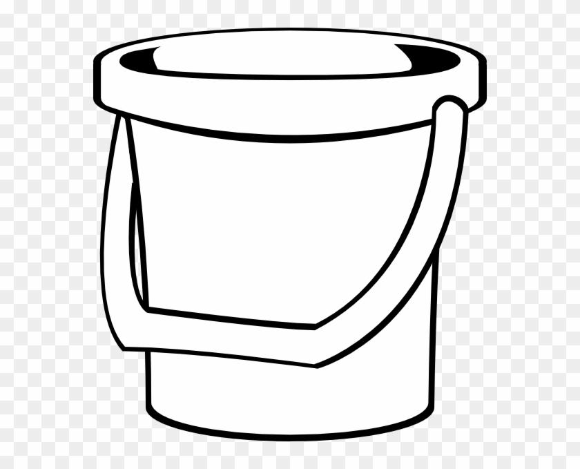 White Bucket 1 Clip Art At Clker - White Bucket Clip Art #216673