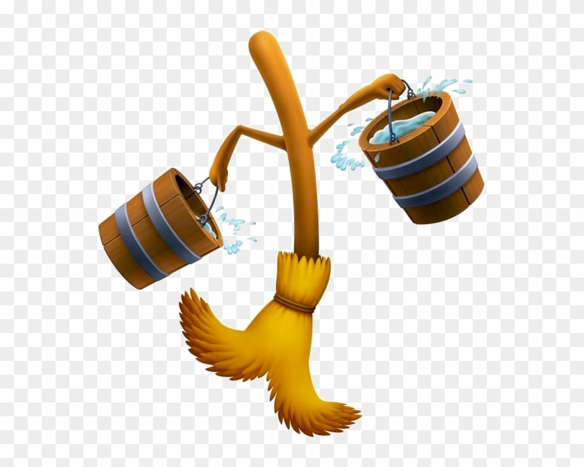 Cinderella Mop And Bucket Clipart - Beauty And The Beast Broomstick #216715