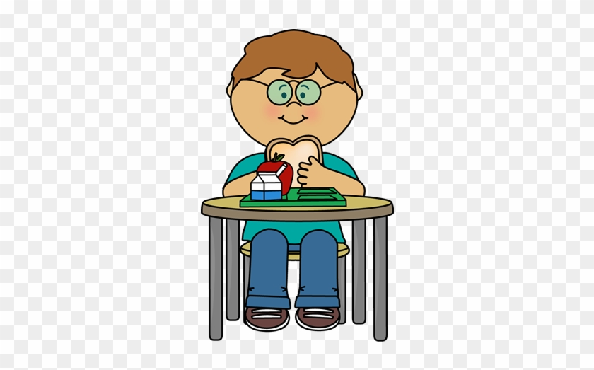 Kids Eating Clipart - Girl Eating Lunch Clipart #217028