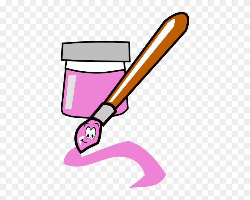 Pink Paintbrush Clip Art - Paint Brush Clip Art #217111