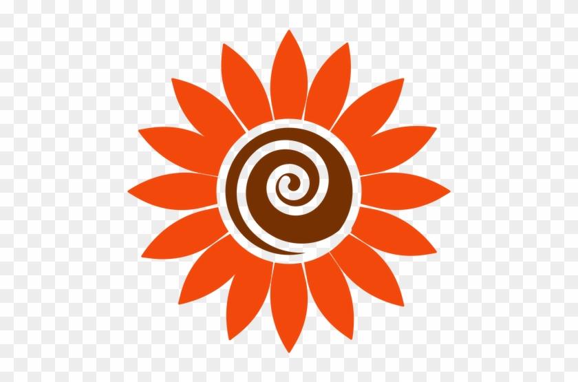 Flat Sunflower Head Clipart Transparent Png - Sunflower Logos #217410