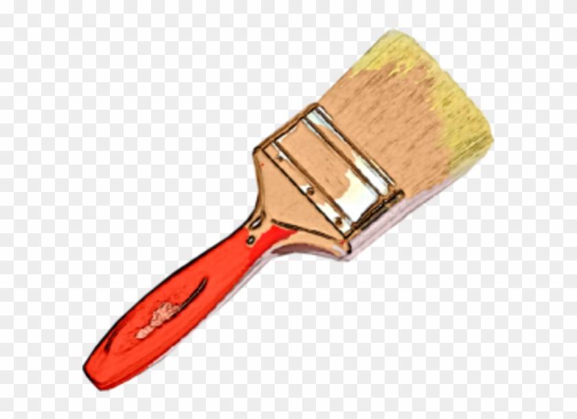 Cartoon Paintbrush Clipart - Large Paint Brush Png #217524