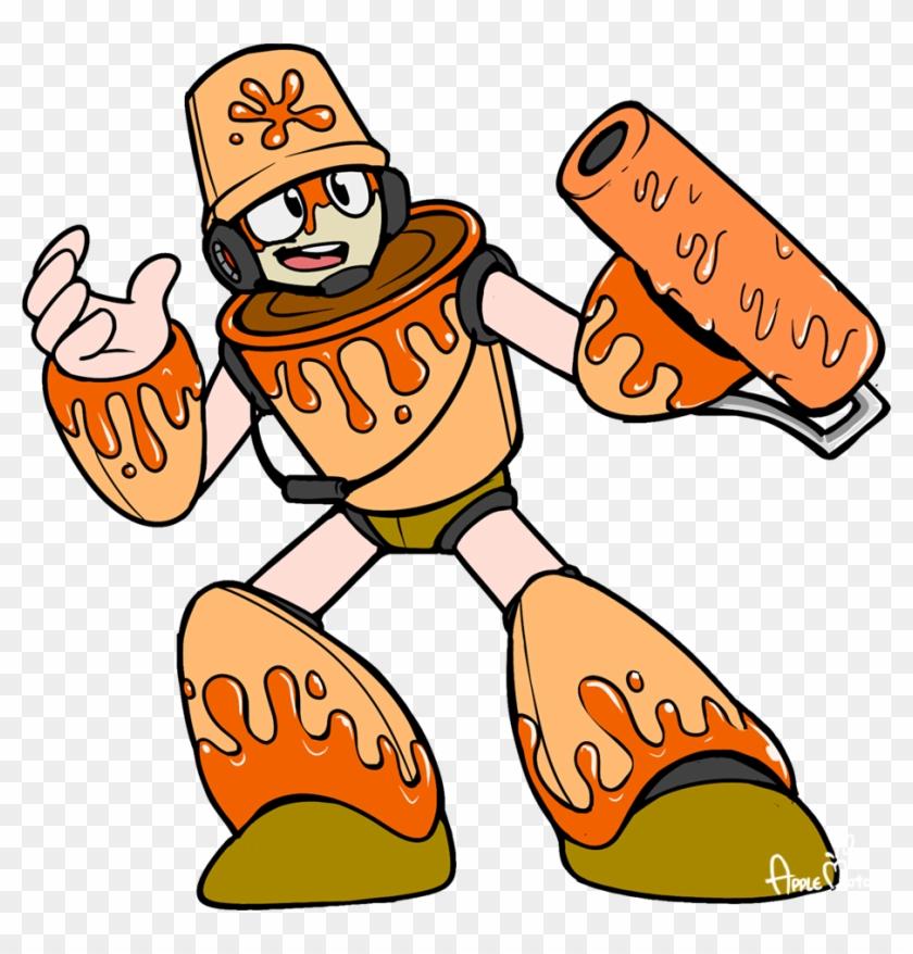 Paintman Concept By Applesrockxp Paintman Concept By - Mega Man Applesrockxp #217548