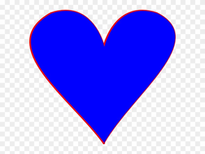 Blue Hearts Clip Art At Clker - Blue Heart Cartoon #217541