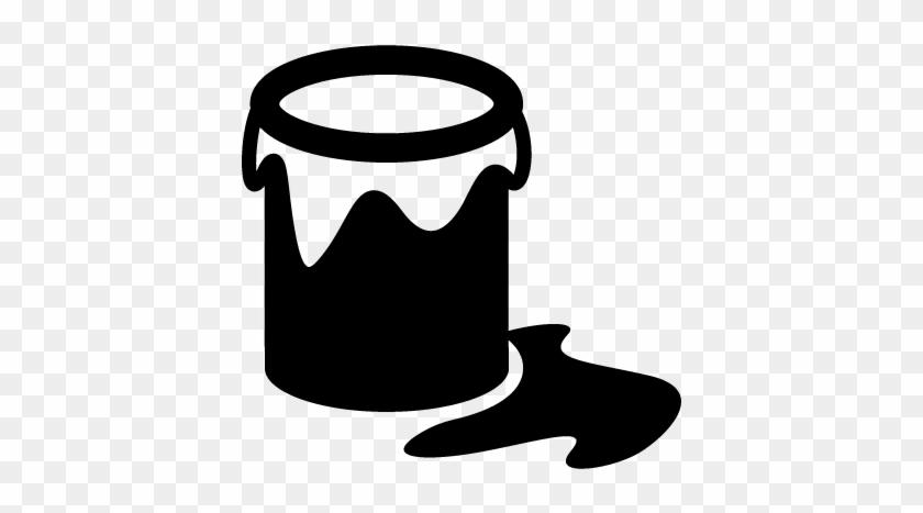 Open Paint Bucket Vector - Paint Bucket Icon Vector #217655
