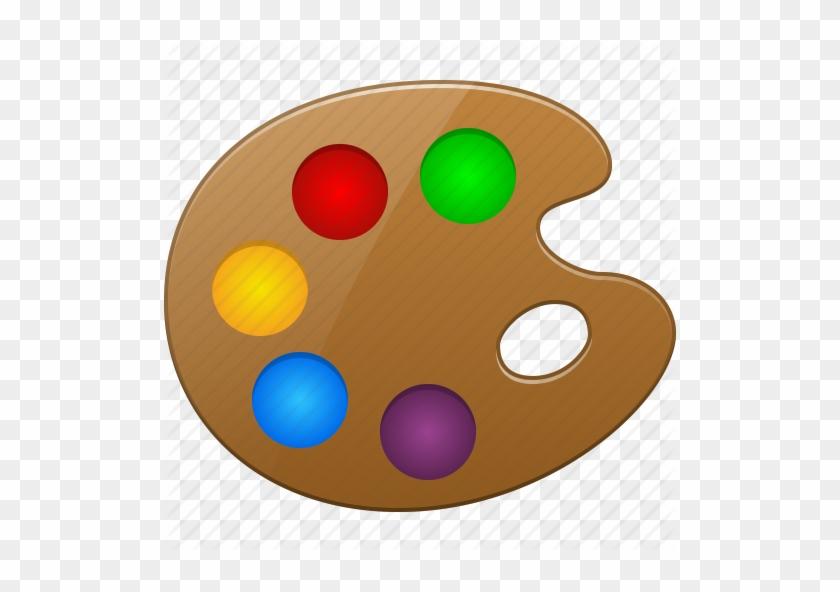 Artistic Color Palette Draw Drawing Gallery Paint Paintbrush - Draw A Paint Palette #217739