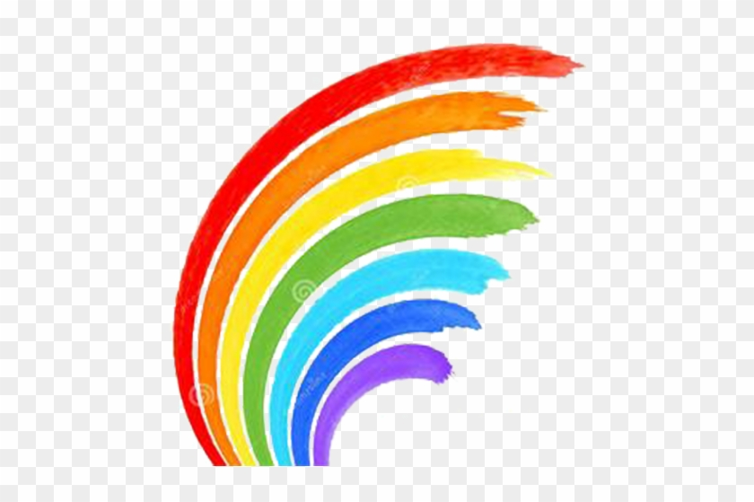 Rainbow Watercolor Painting Stock Photography Clip - Rainbow Brush Stroke Png #217753