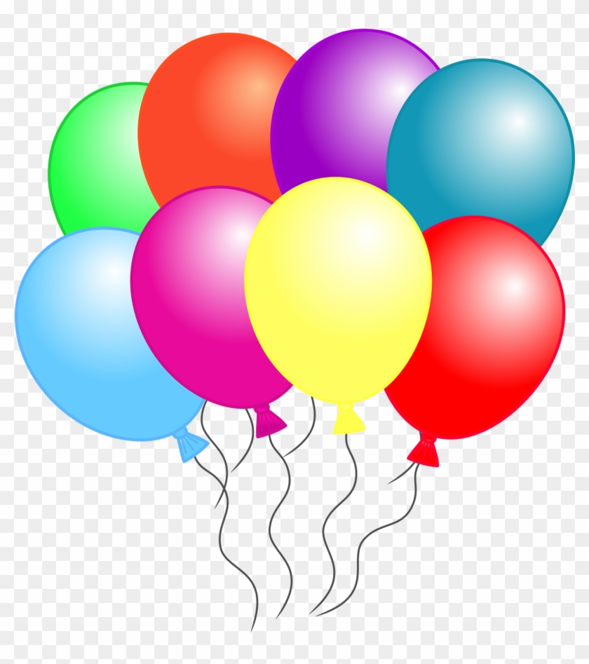 Balloon Clipart That Can Be Downloaded Individually - 8 Balloons Clipart #217863