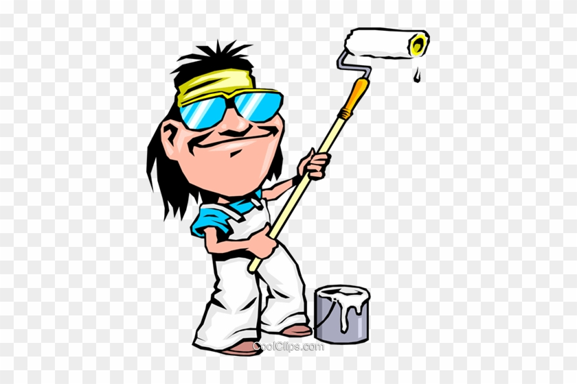 Fancy Person Painting Clipart Cartoon Maler Vektor - Cartoon Pictures Of House Painters #217951