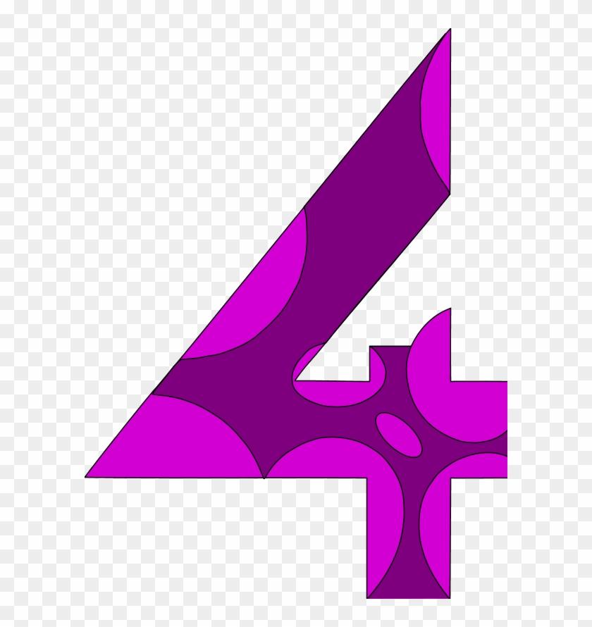 Number 4 Purple #218190