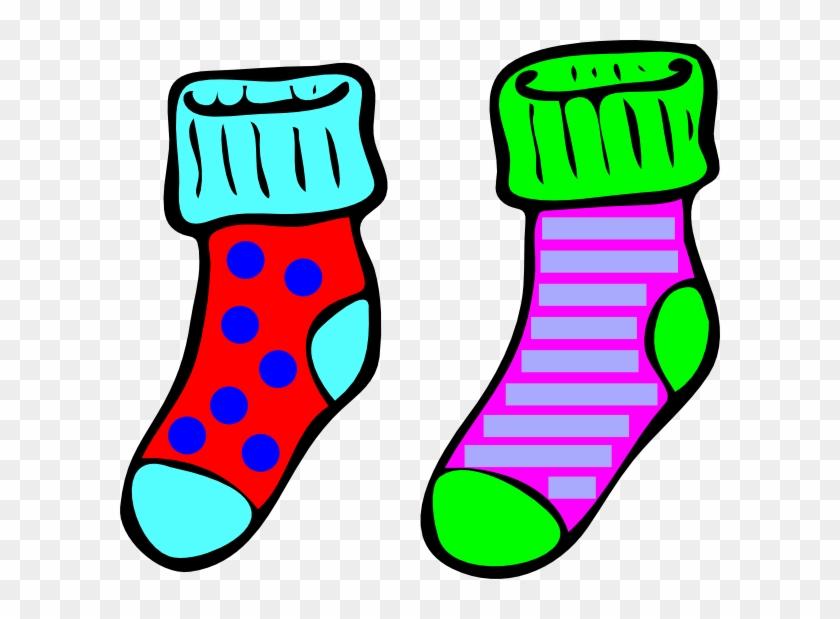 Excellent Ideas Clipart Socks Clip Art At Clker Com - Cartoon Pair Of Socks #218334