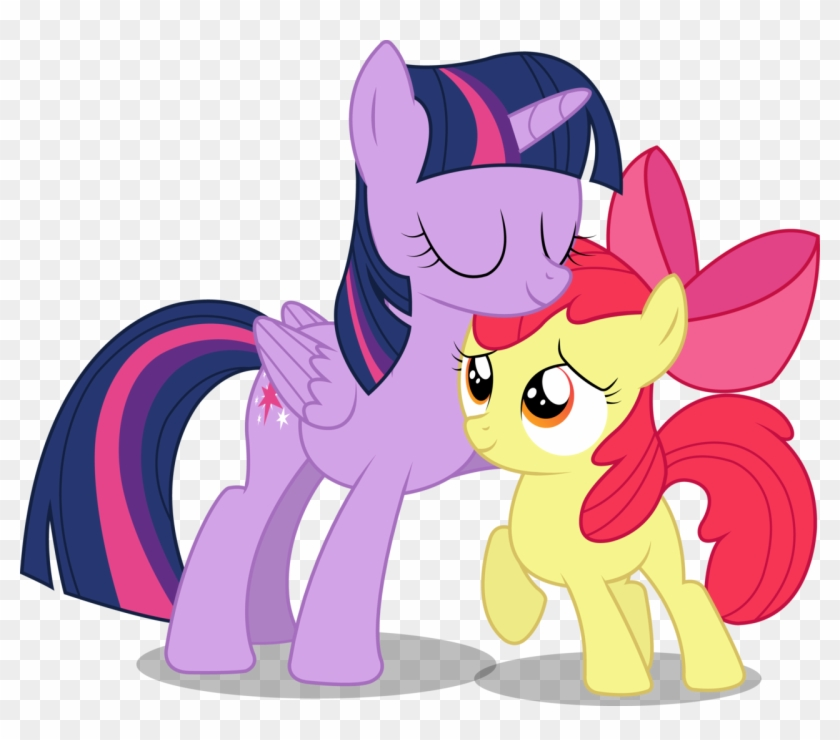 Twilight Clipart Apple - My Little Pony Twilight Sparkle And Applebloom #218465