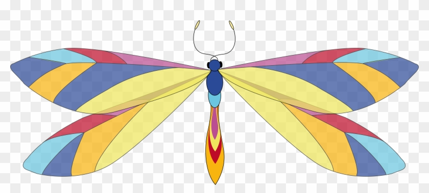 Big Image - Colorful Dragonfly Clip Art #218468