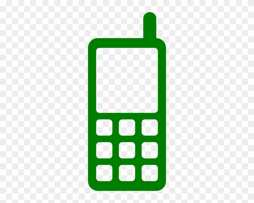 Cell Phone Icon Green #219000