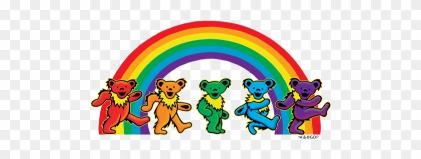 All Rainbow Bears - Grateful Dead - Dancing Bears Sticker #219049