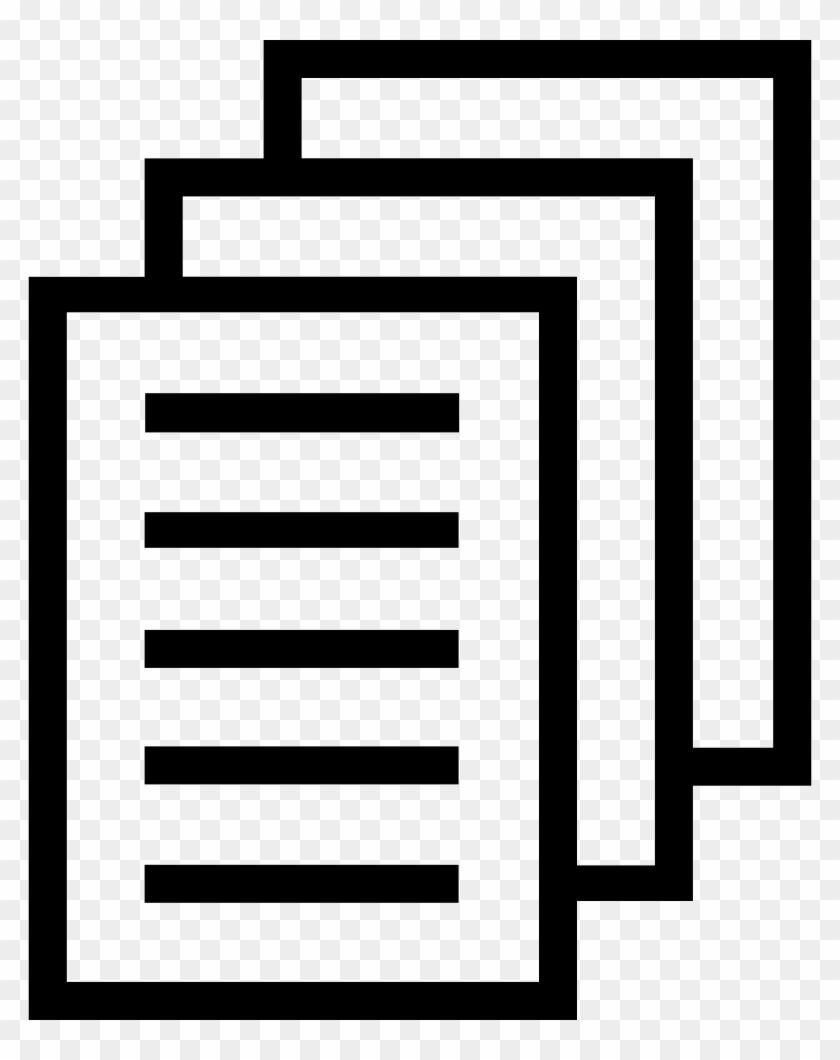 Document Clipart Stack Papers - Paper Files Icon #1388539