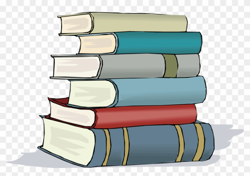 Book Stack Clip Art - Stack Of Books Free Clipart #1388541