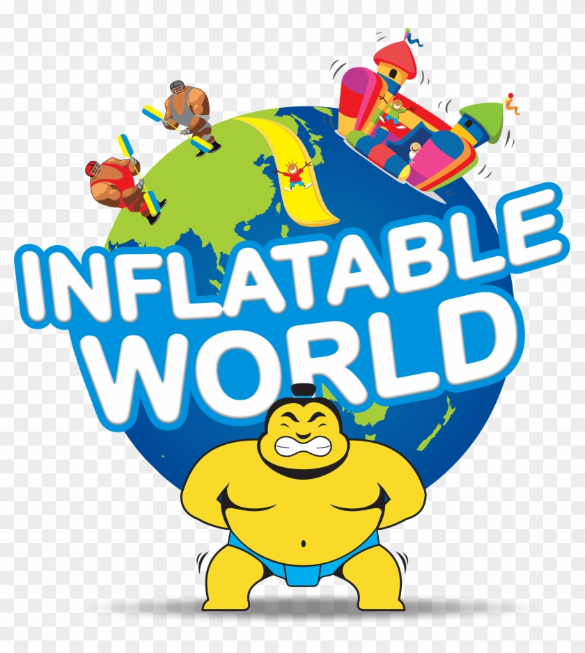 We Are Proud At Action Salisbury To Share With You - Inflatable World Logo #1388607