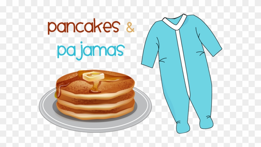 Clip Art Black And White Download Pancakes And Family - Pajama And Pancake Day #1388623