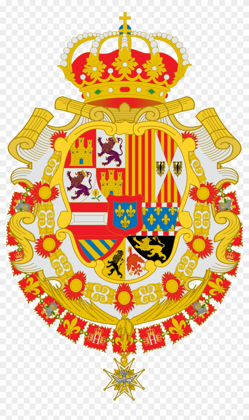 Escudo De Felipe V De España, Primer Rey Proveniente - Escudo De Armas Carlos Iv #1390497
