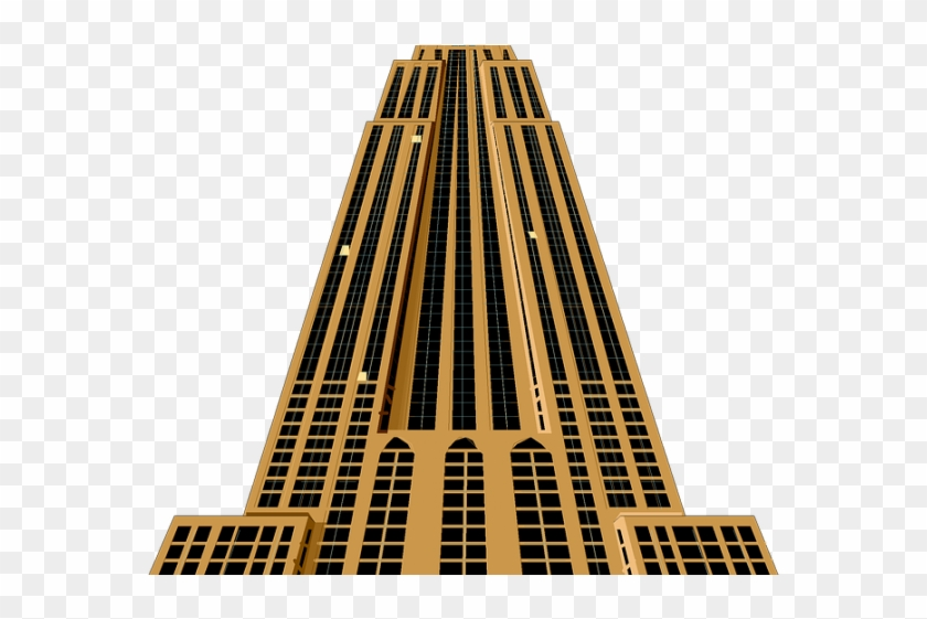 Skyscraper Clipart Architectural - Empire State Building Clip Art #1390634
