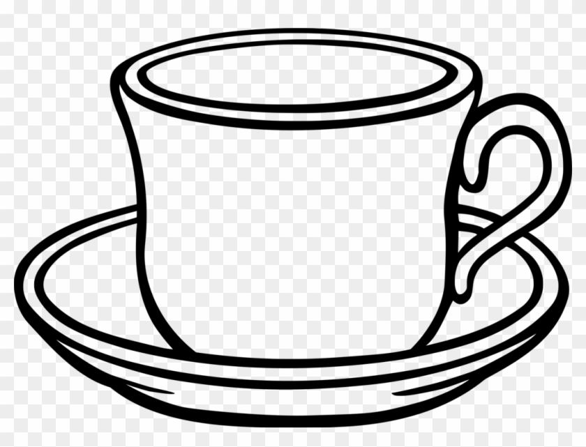 Table-glass Coffee Saucer Teacup - Cup And Saucer Clipart #1391140