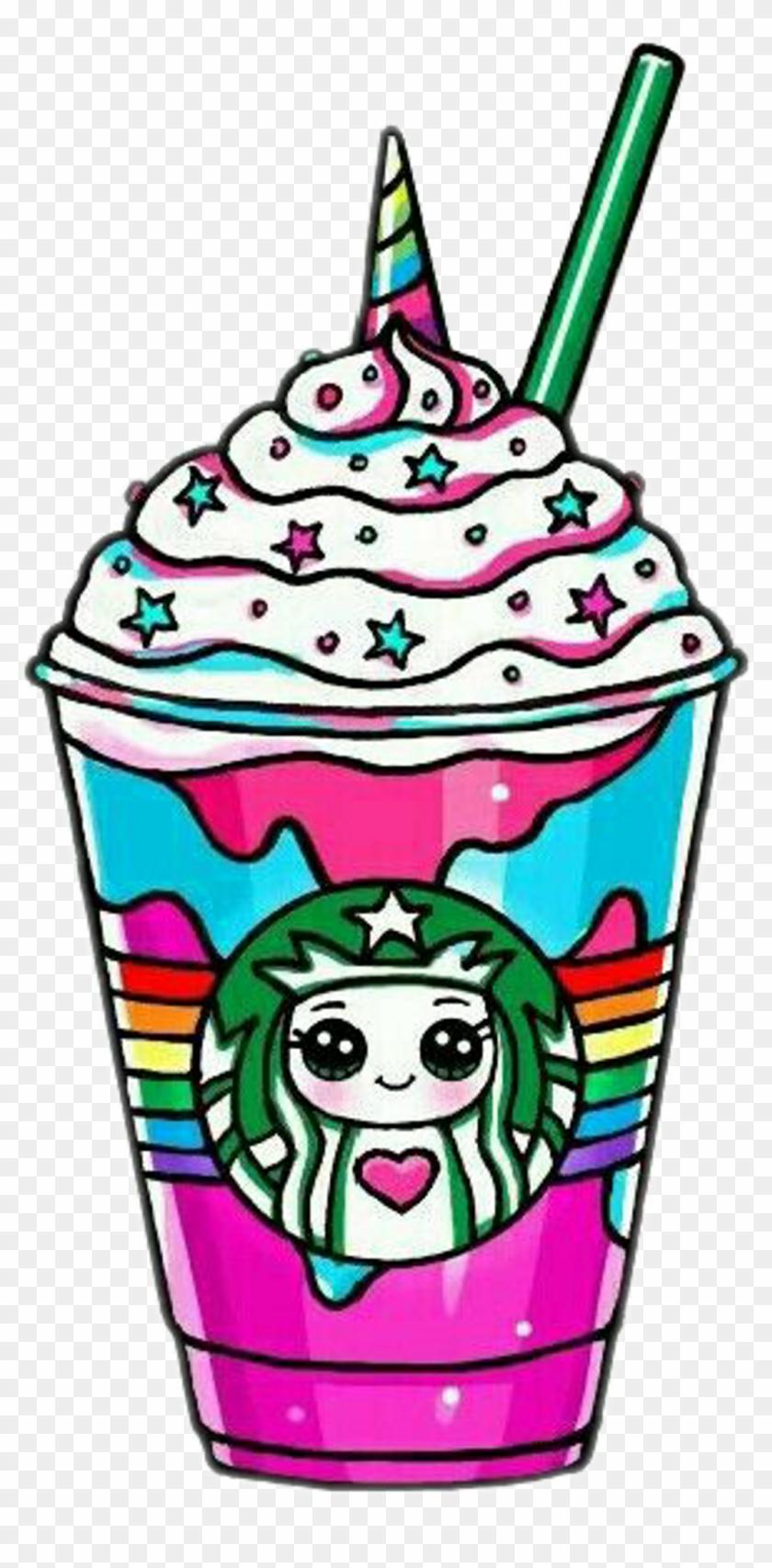Starbucks Unicornstarbucks Unicorn Rainbow Drawsocute - Cute Kawaii Starbucks Unicorn #1391170