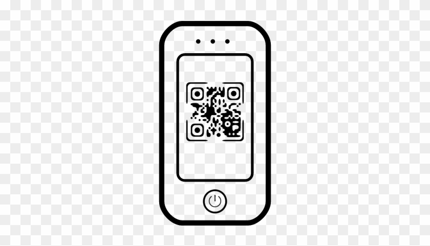 Jpg Black And White Stock Mobile Phone At Getdrawings - Qr Mobile Phone Icon #1391259
