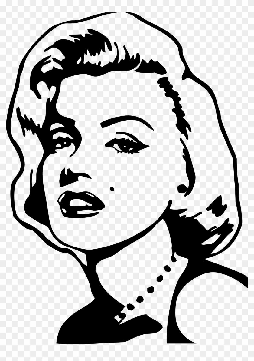 Image Pop Art Drawing Painting Marilyn Monroe Drawing Outline Easy Free Transparent Png Clipart Images Download