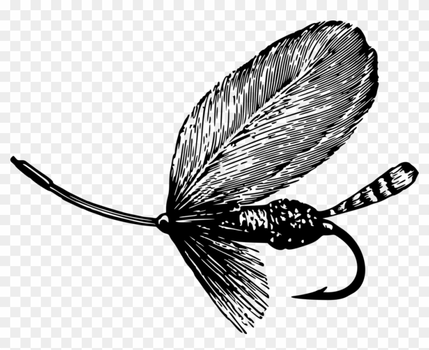 All Photo Png Clipart - Clip Art Of Fly Fishing Black And White #1391469