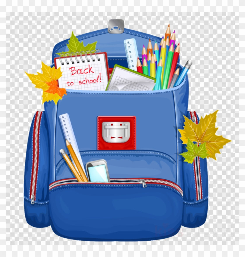 Download School Backpack Png Clipart Backpack Clip - School Backpack Transparent Background #1391881