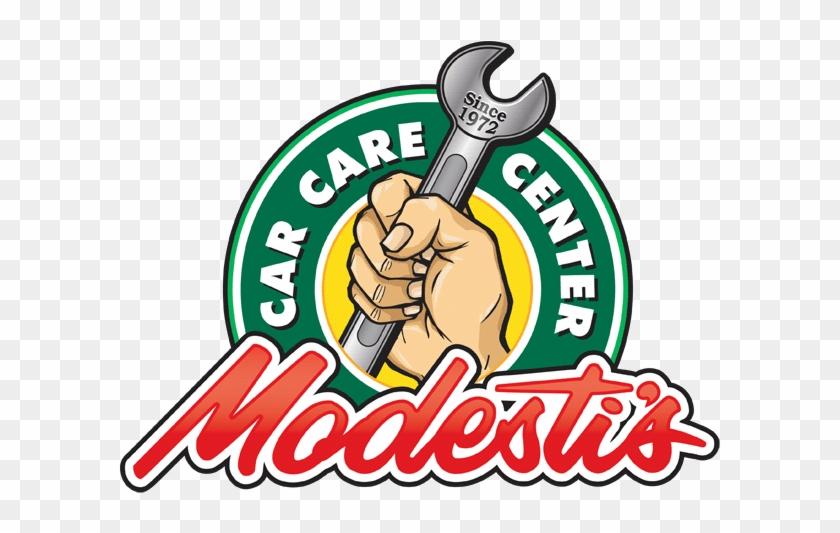Auto Repair Logo Design For Modesti's Car Care Center - Car Care Center Logo #1392094