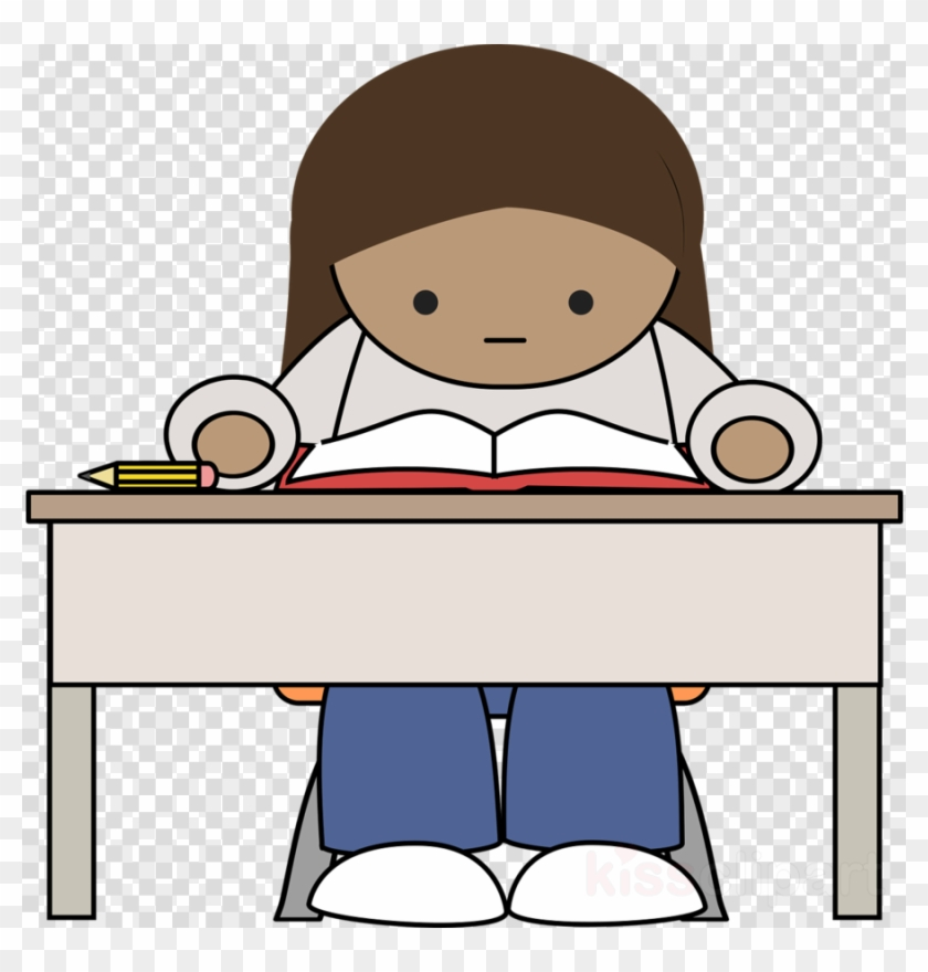 Download Student College Reading Png Clipart Study - Student Studying Clipart #1393533