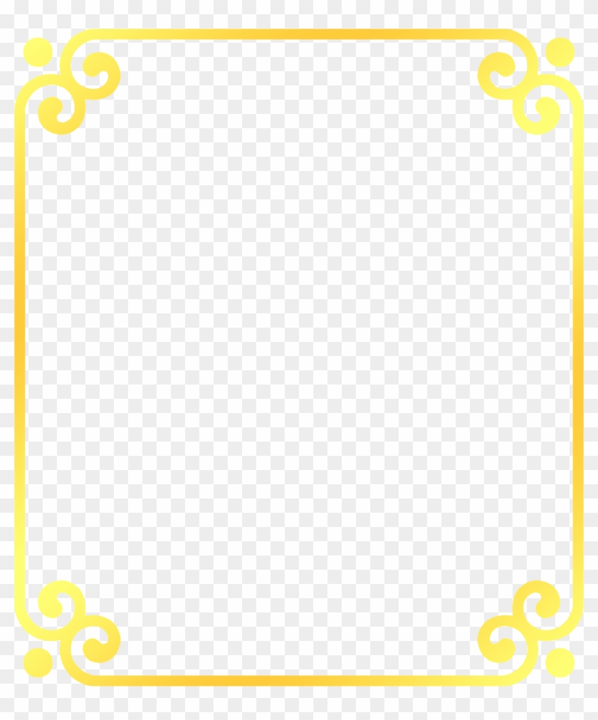 Area Pattern Golden Frame Transprent Free Download - Yellow Square Border Png #1393701