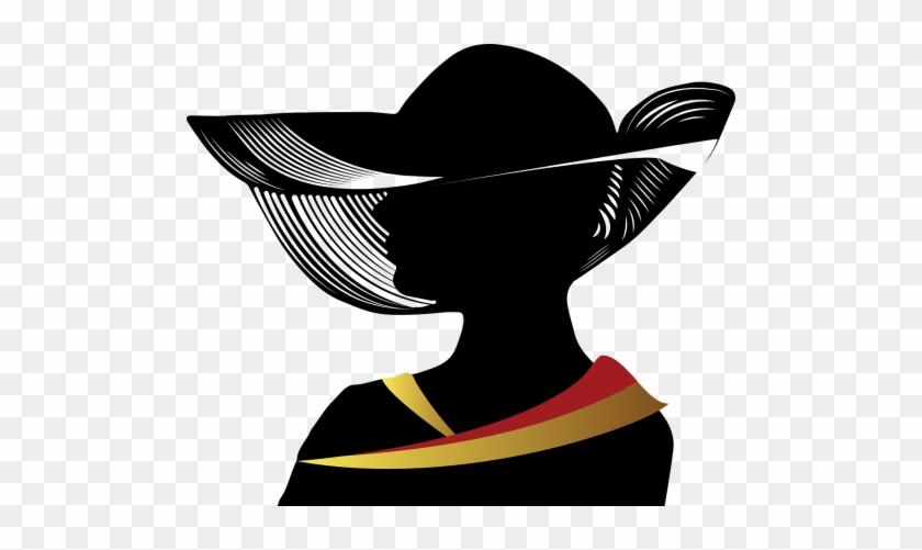 Woman Wearing Hat Silhouette #1393942
