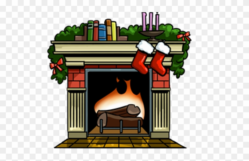 Living Room Clipart Fireplace Clipart Fireplace With Stockings Clipart Free Transparent Png Clipart Images Download