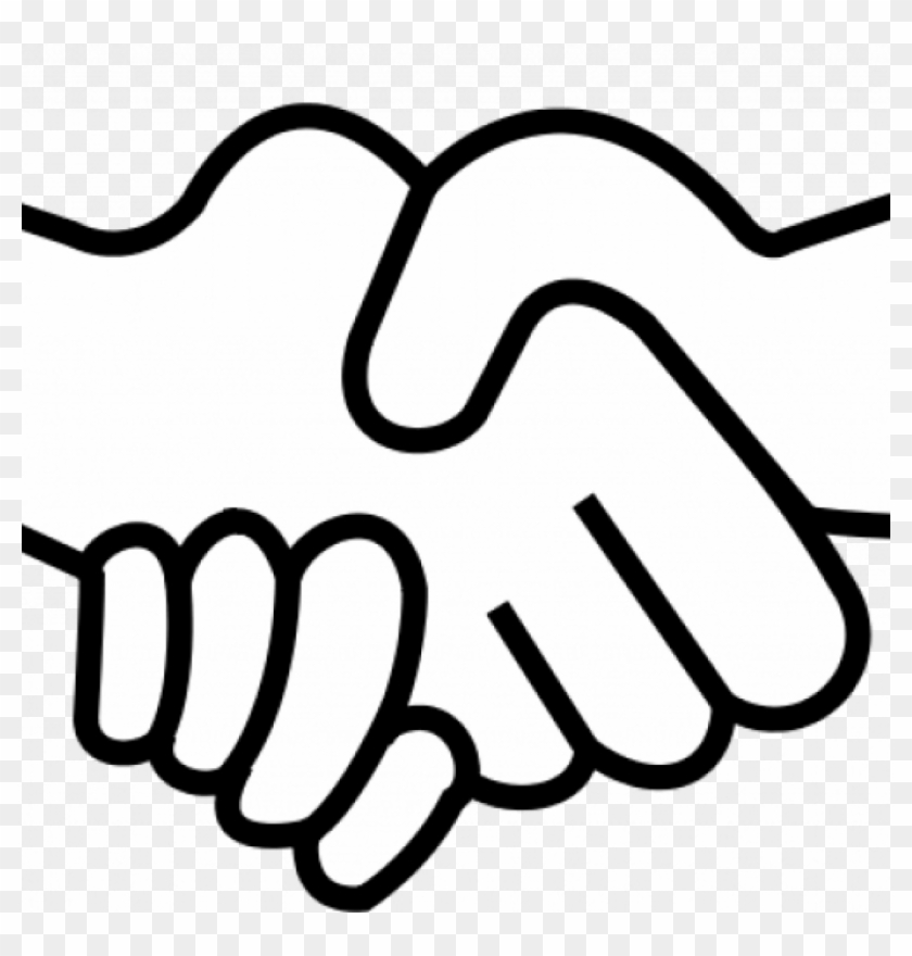 Shake Hands Clip Art People Shaking Hands Drawing At - Easy To Draw Shaking Hands #1395350