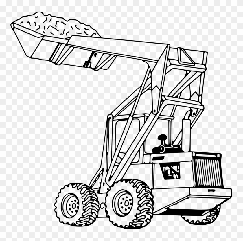 - John Deere Tractor Loader Coloring Book Heavy Machinery - Front End Loader  Drawing - Free Transparent PNG Clipart Images Download