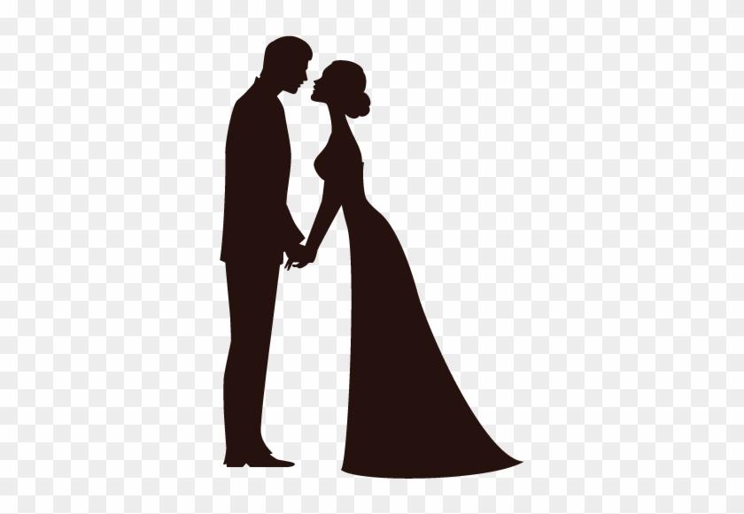 Imagem Relacionada Couple Silhouette, Wedding Silhouette, - Wedding Bride And Groom Silhouette #1395887