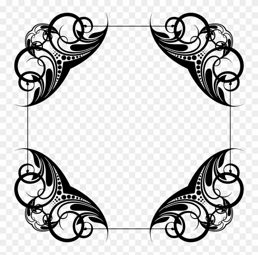 Decorative Corners Borders And Frames Ornament Encapsulated Line
