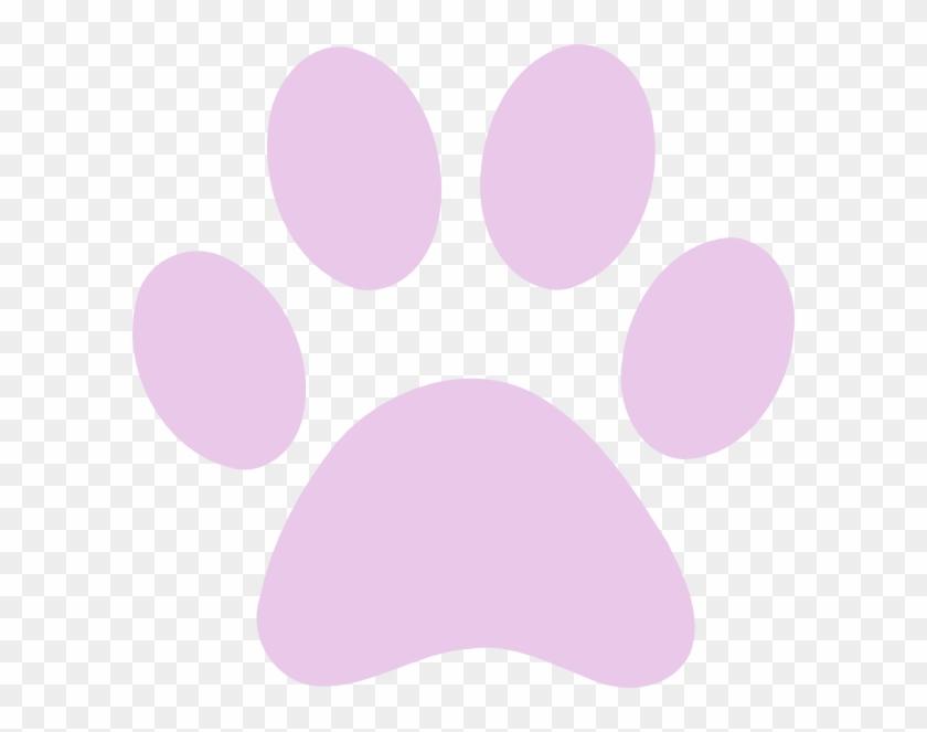 Dog Paw Print Orange #1396774