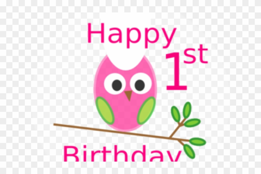 First Birthday Clipart - Happy 1st Birthday Wishes Girl #1397585