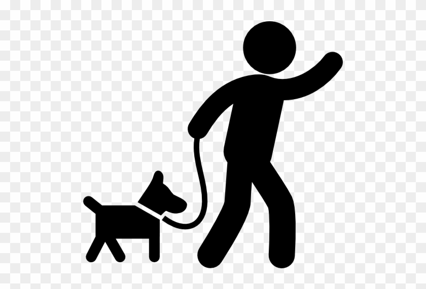 Svg Transparent Man Dog Silhouette At Getdrawings Com - Person Walking Dog Icon #1399262