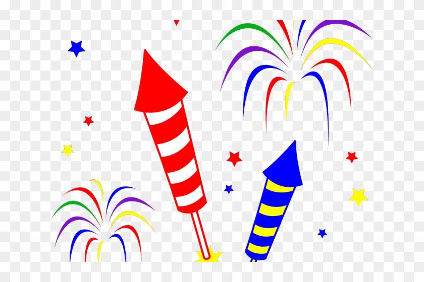 Rocket Clipart Firecracker - Free Clip Art Cartoon Fireworks #1400275