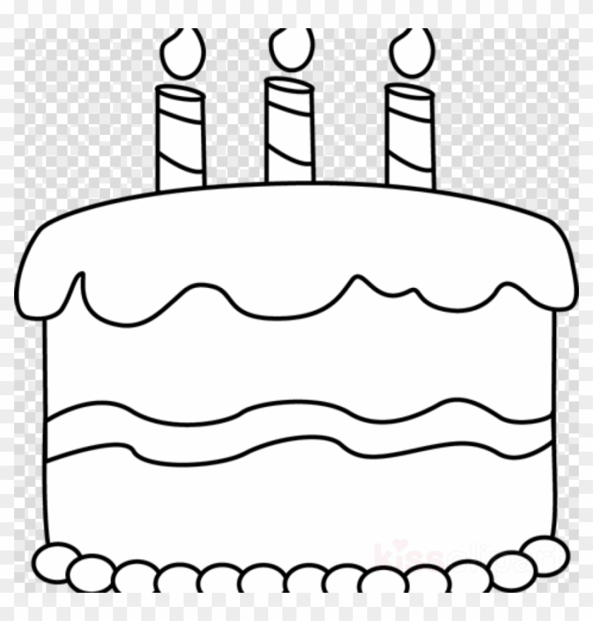 Cake Clip Art Black And White Clipart Birthday Cake Black And