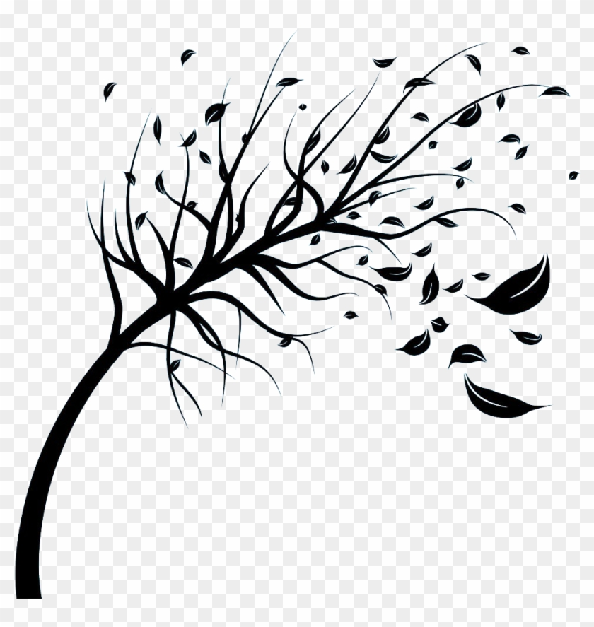 Wind Stock Photography Royalty Free Tree Clip Art Leaves Blowing In The Wind Drawing Free Transparent Png Clipart Images Download